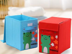 简家 三金冠 韩式多彩青蛙卡通高品质有盖收纳箱整理储物箱SN1157,收纳箱,