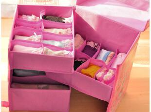 默默爱♥内衣收纳盒 文胸整理盒 有盖内裤袜子收纳箱 三件套,收纳箱,