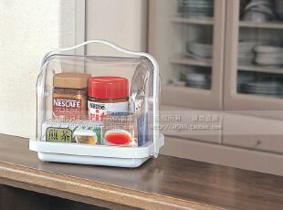 日本inomata 面包箱 调味瓶储物盒 厨房收纳盒 食品收纳箱 0099,收纳箱,
