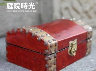 【庭院时光】中式经典田园装饰杂货复古收纳箱/首饰盒大号,收纳箱,