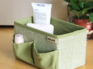 自然旋律 韩版化妆品收纳盒护肤品收纳箱 桌面整理储物盒,收纳箱,