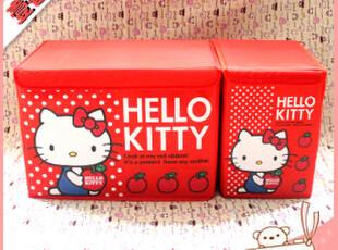 日单 卡通 可爱Hello Kitty大号小号 收纳箱/收纳盒 2个一套 包邮,收纳箱,