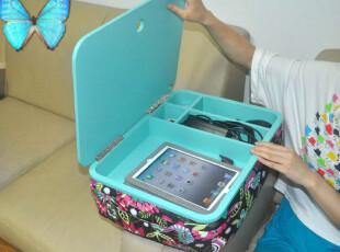 电脑收纳箱 可移动笔记本电脑桌,收纳箱,