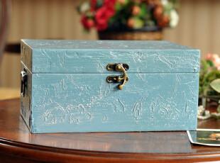 【鼎礼家居】田园风格首饰盒礼品盒收纳箱摆设欧式复古MH017,收纳箱,