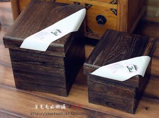 和风----日单原木实木泡桐木烧桐木收纳箱收纳盒古朴实用米桶米箱,收纳箱,