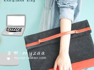zaa杂啊 yizi手挽电脑包袋系列 笔记本电脑包 27cmX38cm 简约创意,数码周边,