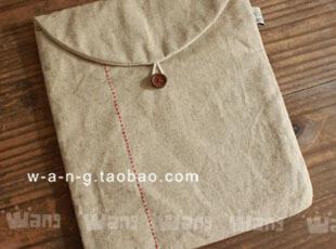 WANG【一针一线】棉麻 IPAD袋 IPAD套 包 日式 简约,数码周边,