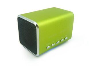 音乐天使JH-MD05迷你版 插卡便携音箱/TF插卡音响 绿色,数码周边,