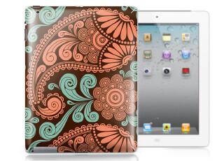包邮 the new ipad2 ipad3 创意贴纸 复古花纹系列3 背贴膜 配件,数码周边,