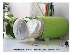 可乐罐创意弹出式CD收纳盒-绿色 60片装,数码周边,
