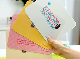 懒角落★日韩国文具 韩版 可爱卡通 彩色简约 韩语 鼠标垫 24100,数码周边,