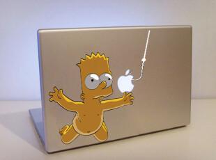 苹果 macbook 笔记本电脑外壳贴膜 辛普森 彩贴 炫彩贴 创意贴纸,数码周边,