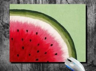 【MR.IN】独家原创夏天小清新红绿西瓜森女风可爱个性创意鼠标垫,数码周边,