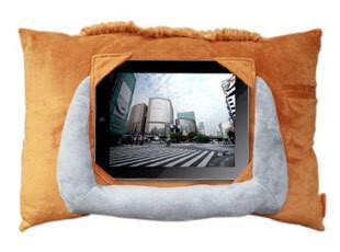 机乐堂 ipad2 3 车载支架抱枕 可爱汽车靠垫 抱枕 沙发 靠垫,数码周边,