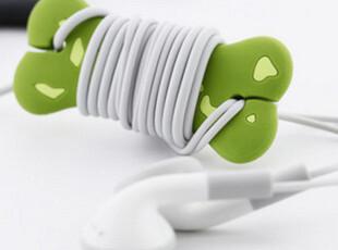 热卖 台湾bone(果铺)骨头造型耳机绕线器 耳机收纳器 卷线棒硅胶,数码周边,