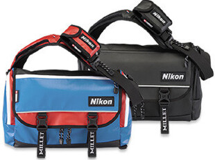 五钻 日本限定版Nikon x Millet合作版单肩包/邮差包/单反相机包,数码周边,