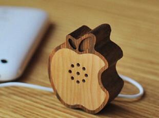 韩国 Motz  Fruit 迷你苹果木制小音箱(iphone4/手机/mp3专用),数码周边,