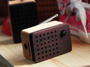 正品授权Motz迷你方块收音机 木质音箱 可插卡 含天线 iPhone音响,数码周边,
