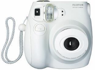MINI7S 富士 拍立得 一次成像相机 mini7S 纯白 行货保1年,数码周边,