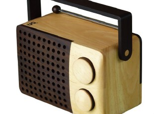Areaware全手工Magno方形古典木制收音機MP3,数码周边,