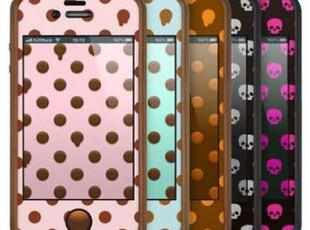 正品 TUNEWEAR poptune iPhone 4S/4 边框 波点 骷髅 贴膜套装,数码周边,