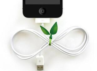 思迈数码 萌动的春意 Leaf Tie绿叶集线器|绕线器|理线带 12根装,数码周边,