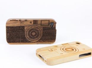 美国进口 SigniCase木质|竹子激光蚀刻相机样式iPhone 4保护壳,数码周边,