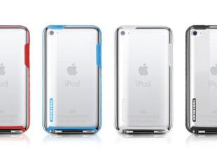 日本TUNEWEAR(腾威尔)iPod touch 4G透明保护壳连彩色胶边 送配件,数码周边,