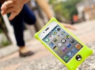 台湾正品bone iphone4S/3GS/Touch4空气防撞外壳 泡泡硅胶保护套,数码周边,