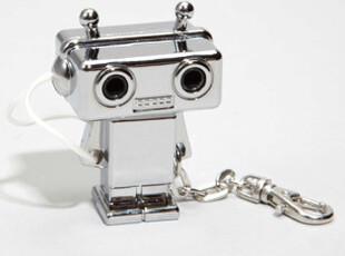 美国进口 可爱机器人耳机分线器Splitterbot Chrome版,数码周边,