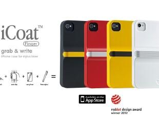 美国进口 Ozaki夹带触控笔的iPhone 4/4S保护套|外壳iCoat IC864,数码周边,