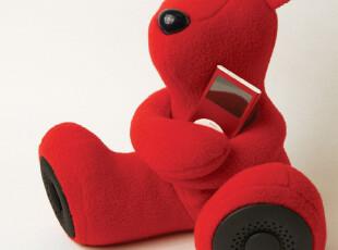 淘金币 IdeaShow 香港DJ-Bears毛绒可爱迷你音响音箱熊新年礼物,数码周边,