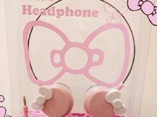 凯蒂猫头戴式卡通耳机 MP3MP4耳机【满百包邮】,数码周边,