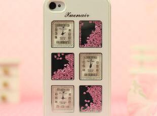 新款热卖苹果iPhone4s手机壳水晶水钻苹果4外壳钟表款保护套子,数码周边,