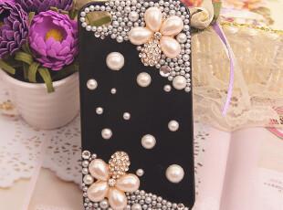 包邮!iPhone4/4S珍珠水钻大花朵 手机壳 奢华风 保护壳,数码周边,
