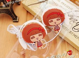 摩斯娃娃 可爱 卡 通 造型 软线 挂耳式 耳机 耳麦,数码周边,