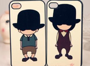 iphone4 iphone4s 戴帽子的绅士 潮男 独家新款 手机壳 保护壳,数码周边,