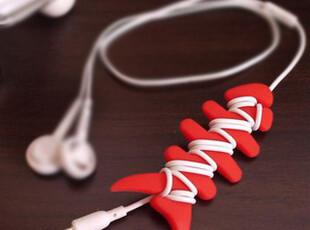 皇冠 促销 鱼骨头绕线器 mp3 手机耳机线集线器 卷线器 绕线棒,数码周边,