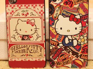 浮雕 彩绘 iphone 44s hello kitty 凯蒂猫 手机壳 保护壳,数码周边,