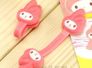 新款日本轻松熊 苹果4s专用配件 iphone4s耳机绕线器手机纽扣线夹,数码周边,