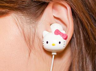 苹果ipone4耳机保护壳 可爱卡通hello Kitty 耳麦耳塞 MP34 耳机,数码周边,