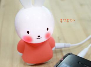 『韩国网站代购』可爱红脸蛋小白兔iphone手机迷你音箱,数码周边,
