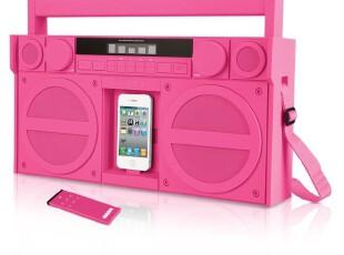 香港正品iHome 粉色 复古便携式 立体声扬声器 音箱 iPhone 4s,数码周边,