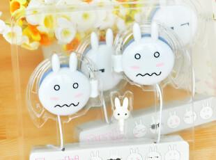 三年二班●创意家居 超可爱 兔斯基表情挂耳式带防尘塞 耳机,数码周边,