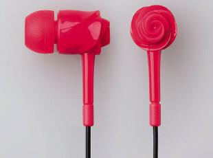 日本进口 ELECOM 宜丽客 玫瑰花  超可爱 耳塞 耳麦 耳机  特价,数码周边,