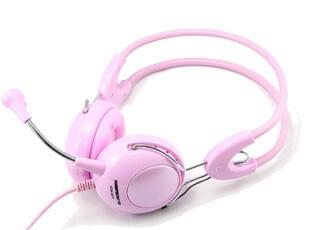 今联KNP-901P头戴式耳麦粉色时尚硅胶耳套女生专用头戴正品特价,数码周边,