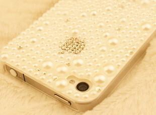 杨幂同款 简约珍珠 iphone4s 水钻手机壳  苹果4手机壳 保护套,数码周边,