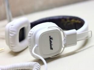 正品英国百年品牌 Marshall Major 白色 监听耳机 音量线控,数码周边,