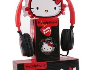 Hello Kitty HKP-HP01头戴护耳式耳机 可爱!可爱!,数码周边,
