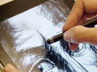 iPhone4/s iPad3 电容笔 触控笔 手写笔 触摸画笔 苹果ipad2 配件,数码周边,